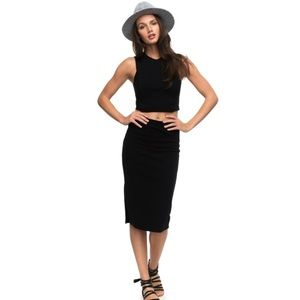 NWT Roxy Crop Top And Skirt Set Size Small